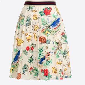🆕 J Crew Hawaii tropical print pleated skirt 2
